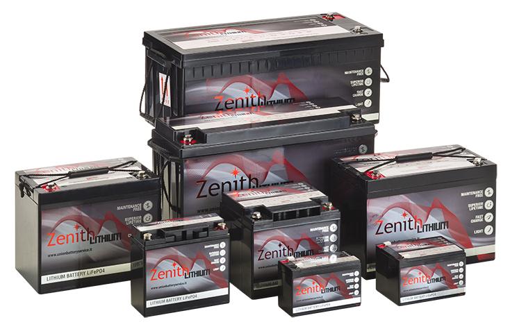 Zenith Lithium Batterien mit BMS, 12V, 24V, 36V, 48V
