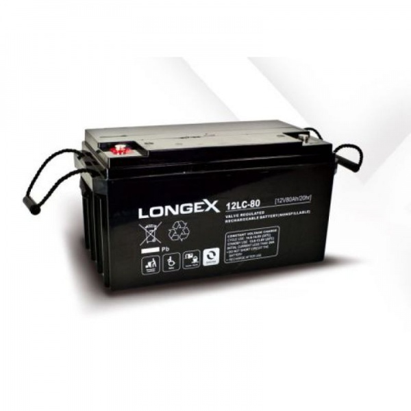 agm batterie longex q batteries deep cycle 12 v 82 ah 12lc 80 kleinboote. Black Bedroom Furniture Sets. Home Design Ideas