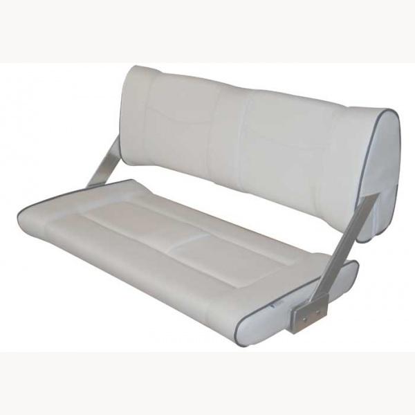 wendesitz doppelbank flip back vinyl sitzbank weiss mit. Black Bedroom Furniture Sets. Home Design Ideas
