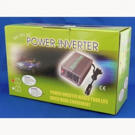 Power Inverter 12V > 230V, 300W Dauerleistung, 600W Spitzenleistung
