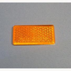 strahler reflektor 70x30mm selbstklebend gelb ersatz r ckstrahler f r trailer an der. Black Bedroom Furniture Sets. Home Design Ideas