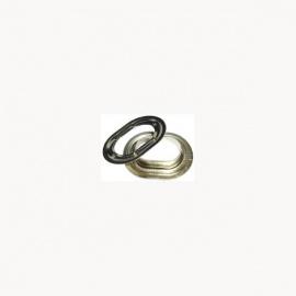 oval se 22 5 x 13 mm messing vernickelt preis pro st ck kleinboote. Black Bedroom Furniture Sets. Home Design Ideas