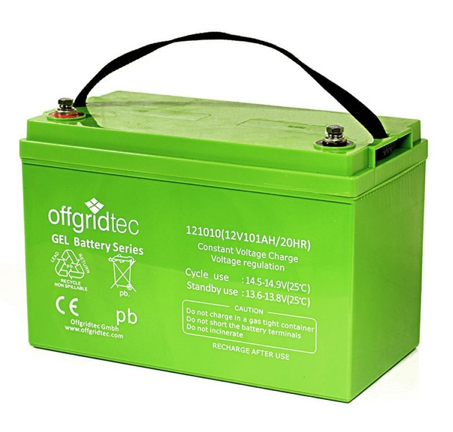 Kleinboote GEL Batterie 12V, 100Ah